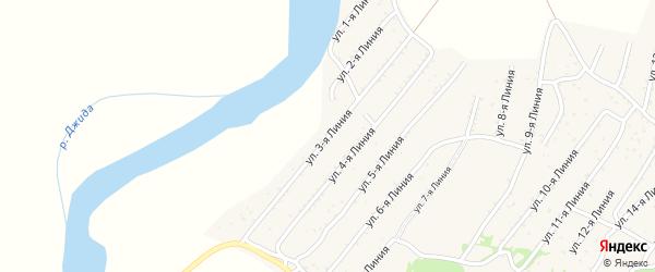 3-я линия на карте территории ДНТ Горняка с номерами домов