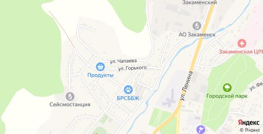 Улица Горького в Закаменске с номерами домов на карте. Спутник и схема онлайн