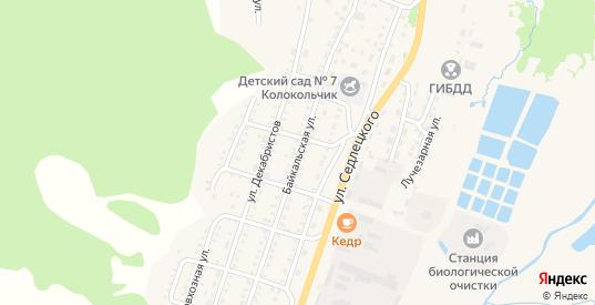 Байкальская улица в Закаменске с номерами домов на карте. Спутник и схема онлайн