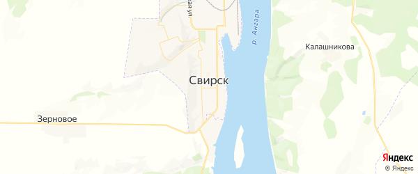Карта Свирска с районами, улицами и номерами домов