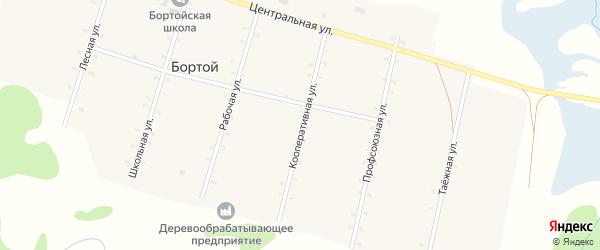 Кооперативная улица на карте Бортой улуса с номерами домов