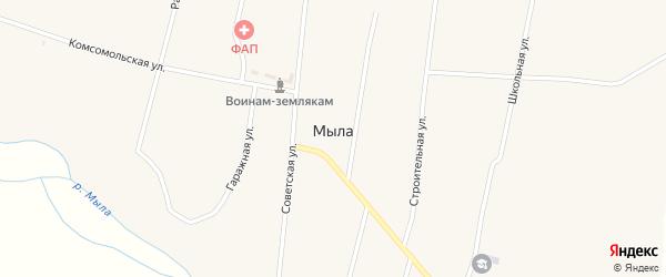 Рабочая улица на карте улуса Мыла с номерами домов