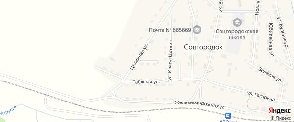 Улица Мира на карте поселка Соцгородка Иркутской области с номерами домов