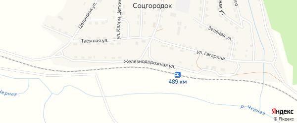 Железнодорожная улица на карте Мерзлотной железнодорожной станции Иркутской области с номерами домов