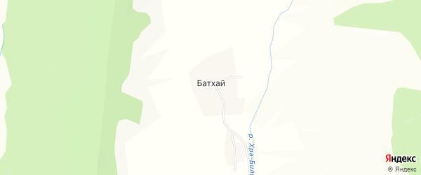 Карта деревни Батхай в Иркутской области с улицами и номерами домов
