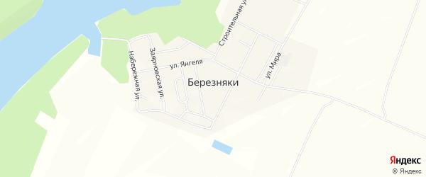 Карта поселка Березняков в Иркутской области с улицами и номерами домов