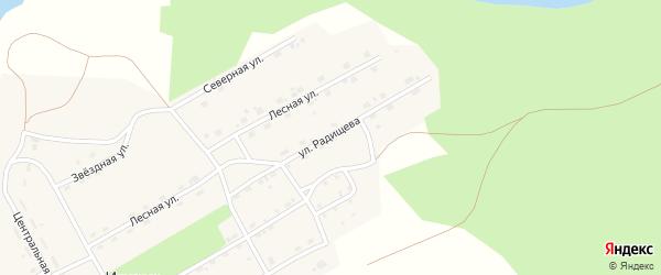 Улица Радищева на карте поселка Игирма Иркутской области с номерами домов