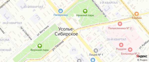 Буровая улица на карте Усолья-Сибирского с номерами домов