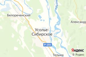 Карта г. Усолье-Сибирское Иркутская область