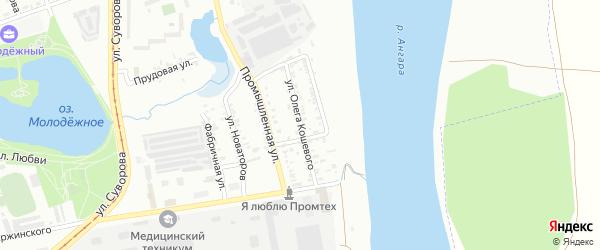 Улица Олега Кошевого на карте Усолья-Сибирского с номерами домов