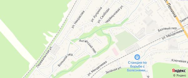 Малый переулок на карте Слюдянки с номерами домов