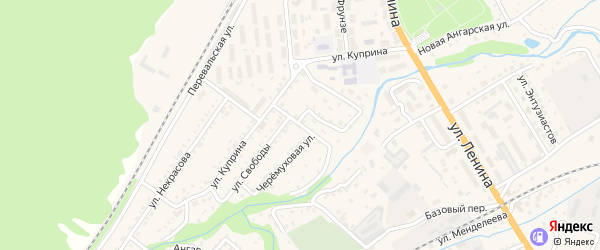 Улица Лермонтова на карте Слюдянки с номерами домов