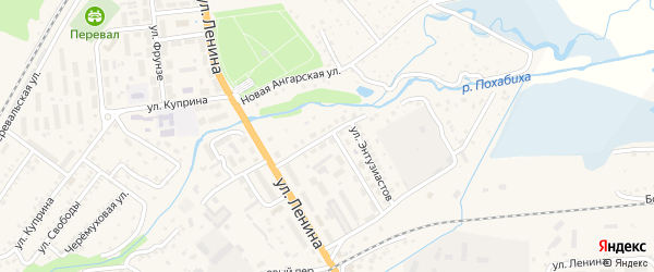 Улица Энтузиастов на карте Слюдянки с номерами домов