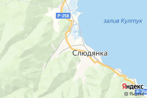 Карта г. Слюдянка Иркутская область