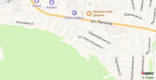 Кедровый переулок в Слюдянке с номерами домов на карте. Спутник и схема онлайн