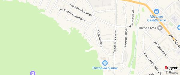 Скальный переулок на карте Слюдянки с номерами домов