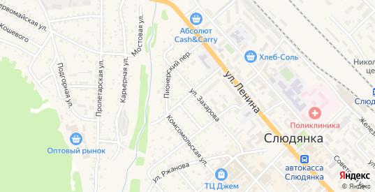 Колхозная улица в Слюдянке с номерами домов на карте. Спутник и схема онлайн