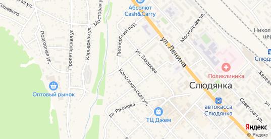 Слюдянский переулок в Слюдянке с номерами домов на карте. Спутник и схема онлайн