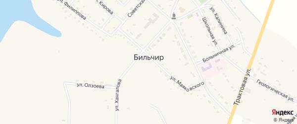 Квартал Нефтеразведка на карте села Бильчир Иркутской области с номерами домов