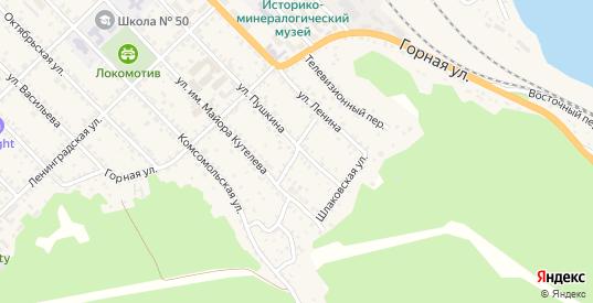 Саянский переулок в Слюдянке с номерами домов на карте. Спутник и схема онлайн