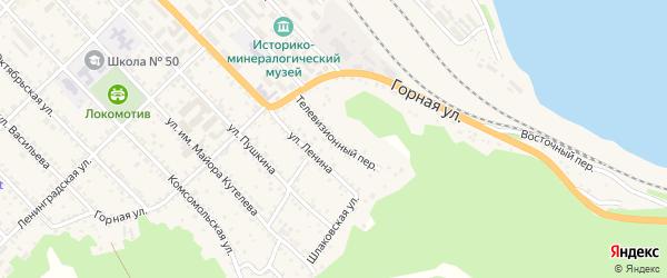 Телевизионный переулок на карте Слюдянки с номерами домов