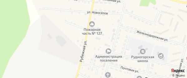 Северный переулок на карте поселка Рудногорска с номерами домов