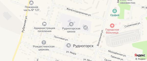 Школьная улица на карте поселка Рудногорска с номерами домов