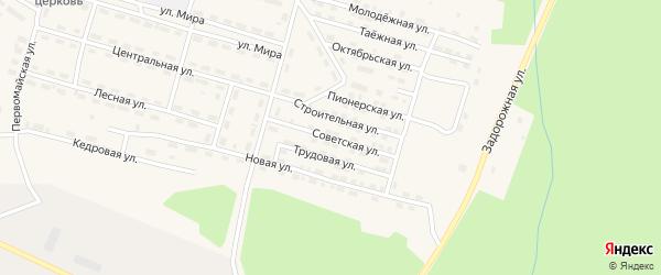 Советская улица на карте поселка Рудногорска с номерами домов