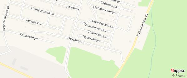 Трудовая улица на карте поселка Рудногорска с номерами домов