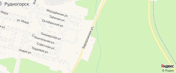 Задорожная улица на карте поселка Рудногорска с номерами домов