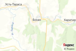 Карта пос. Бохан Иркутская область