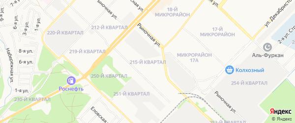 Квартал 215 на карте Ангарска с номерами домов