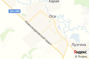 Карта с. Оса Иркутская область