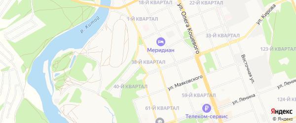 Квартал 38 на карте Ангарска с номерами домов