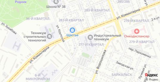 Коммунальная улица в микрорайоне Байкальск в Ангарске с номерами домов на карте. Спутник и схема онлайн
