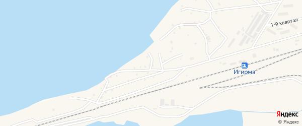 Вокзальная улица на карте поселка Новой Игирмы с номерами домов