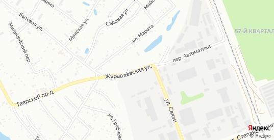 Журавлевская улица в микрорайоне Майск в Ангарске с номерами домов на карте. Спутник и схема онлайн
