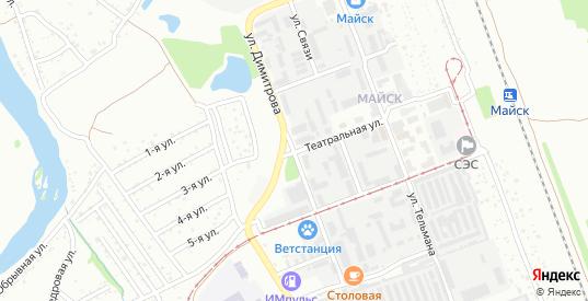 Улица Димитрова в микрорайоне Майск в Ангарске с номерами домов на карте. Спутник и схема онлайн