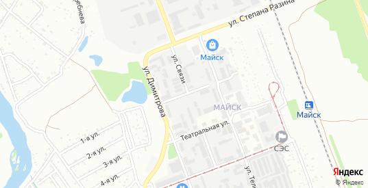 Кузнечная улица в микрорайоне Майск в Ангарске с номерами домов на карте. Спутник и схема онлайн