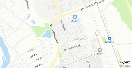 Улица Связи в микрорайоне Майск в Ангарске с номерами домов на карте. Спутник и схема онлайн