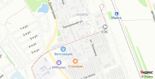 Комсомольская улица в микрорайоне Майск в Ангарске с номерами домов на карте. Спутник и схема онлайн
