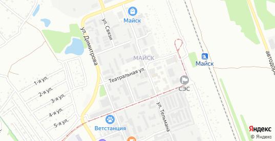 Театральная улица в микрорайоне Майск в Ангарске с номерами домов на карте. Спутник и схема онлайн