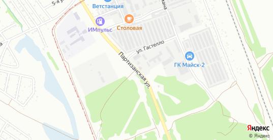 Партизанская улица в микрорайоне Майск в Ангарске с номерами домов на карте. Спутник и схема онлайн