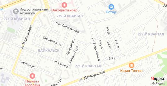 Удачный переулок в микрорайоне Байкальск в Ангарске с номерами домов на карте. Спутник и схема онлайн