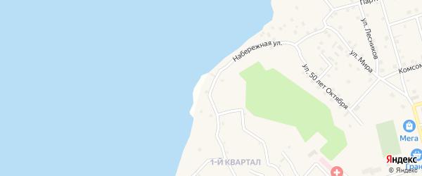 Клубничная улица на карте поселка Новой Игирмы с номерами домов