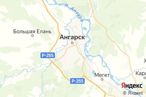 Карта г. Ангарск Иркутская область