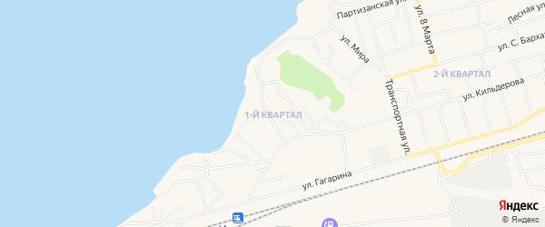 1-й квартал на карте поселка Новой Игирмы с номерами домов
