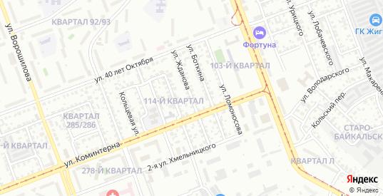 Улица Жданова в микрорайоне Байкальск в Ангарске с номерами домов на карте. Спутник и схема онлайн