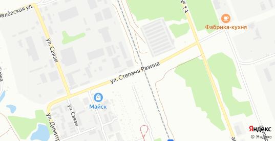 Улица Степана Разина в микрорайоне Майск в Ангарске с номерами домов на карте. Спутник и схема онлайн