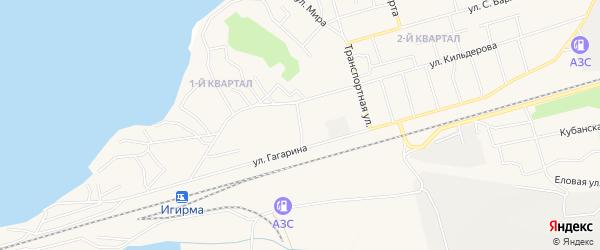 3-й квартал на карте поселка Новой Игирмы с номерами домов